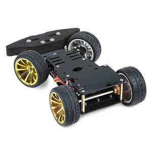 4WD RC Smart Car Chassis For Arduino Platform With MG996R Metal Gear Servo Bearing Kit Steering Gear Control DIY 4 Wheel Robot