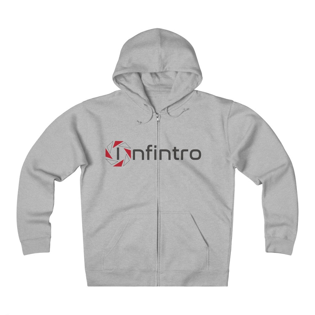 Infintro Unisex Heavyweight Fleece Zip Hoodie