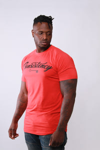 Consistency is Key T-Shirt Heather RED