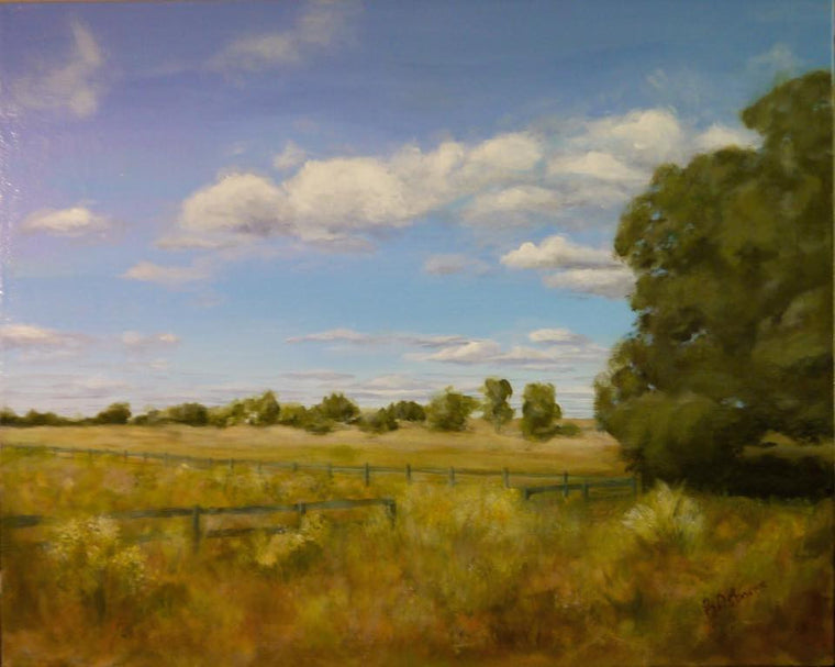 "Brenda Osborne - ""Along The Road II"" Acrylic Painting"