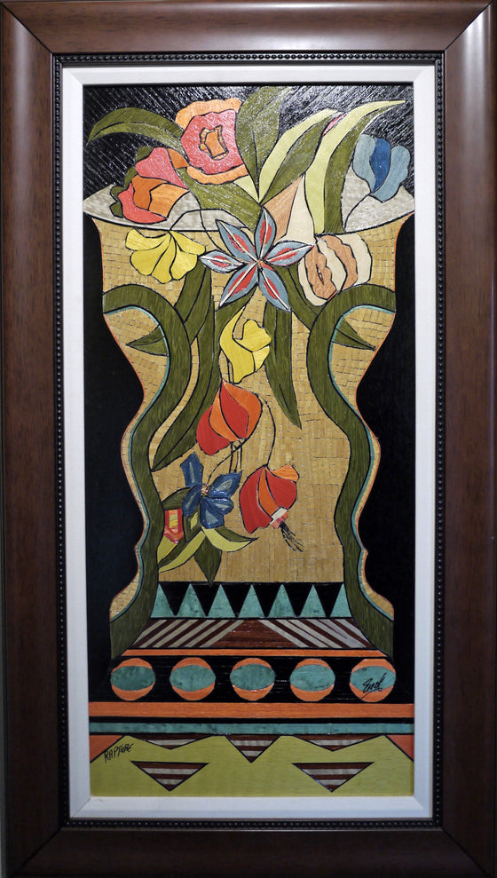 "Errol P. Bruce - ""Rapture"" Wood Inlay Marquetry"