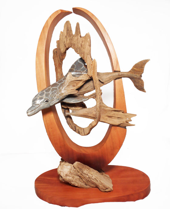 "Rick Cain - ""Circle in a Circle"" Wood Sculpture"