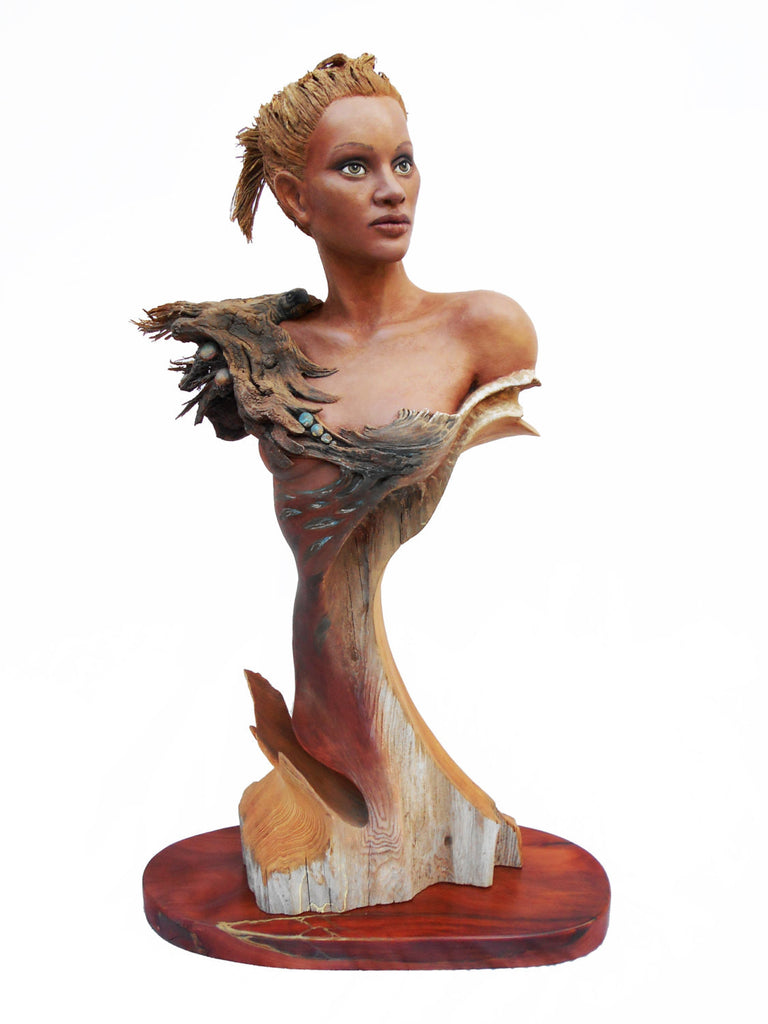 "Rick Cain - ""Feather Wave"" Wood Sculpture"
