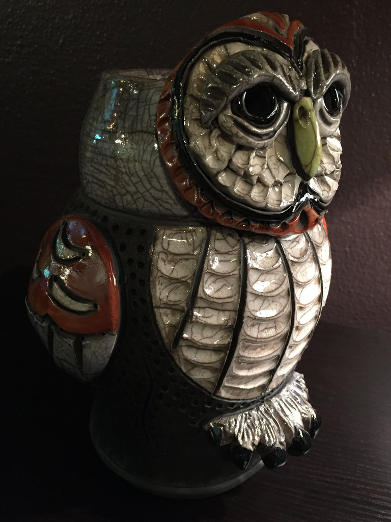 Robin Rodgers - Barred Owl effigy Vase