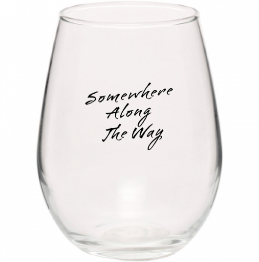 Somewhere Along The Way Libbey Stemless Wine Glass - 11.75 oz