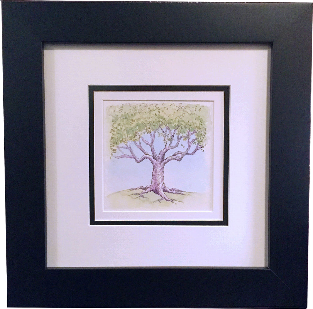 "Stephanie Clark - ""Purple Tree"" Ink Drawing"