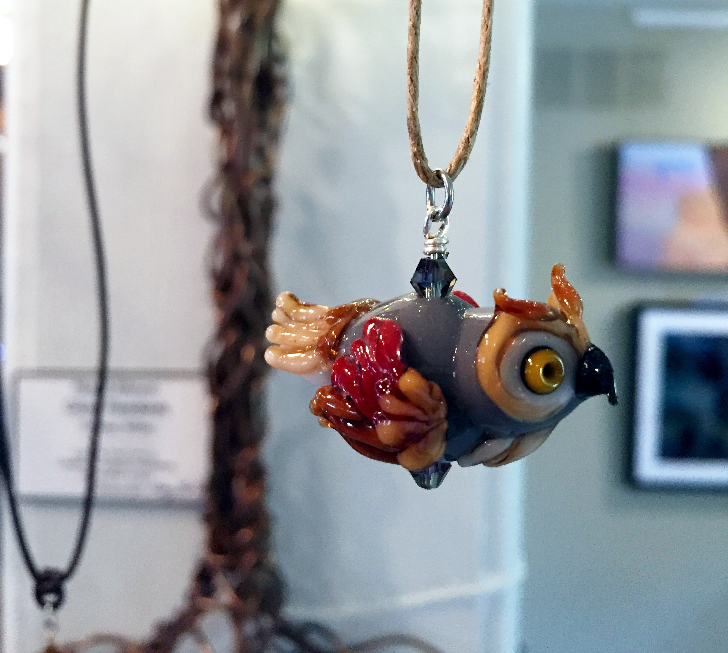 owl glass pendant miles products treena blown tm
