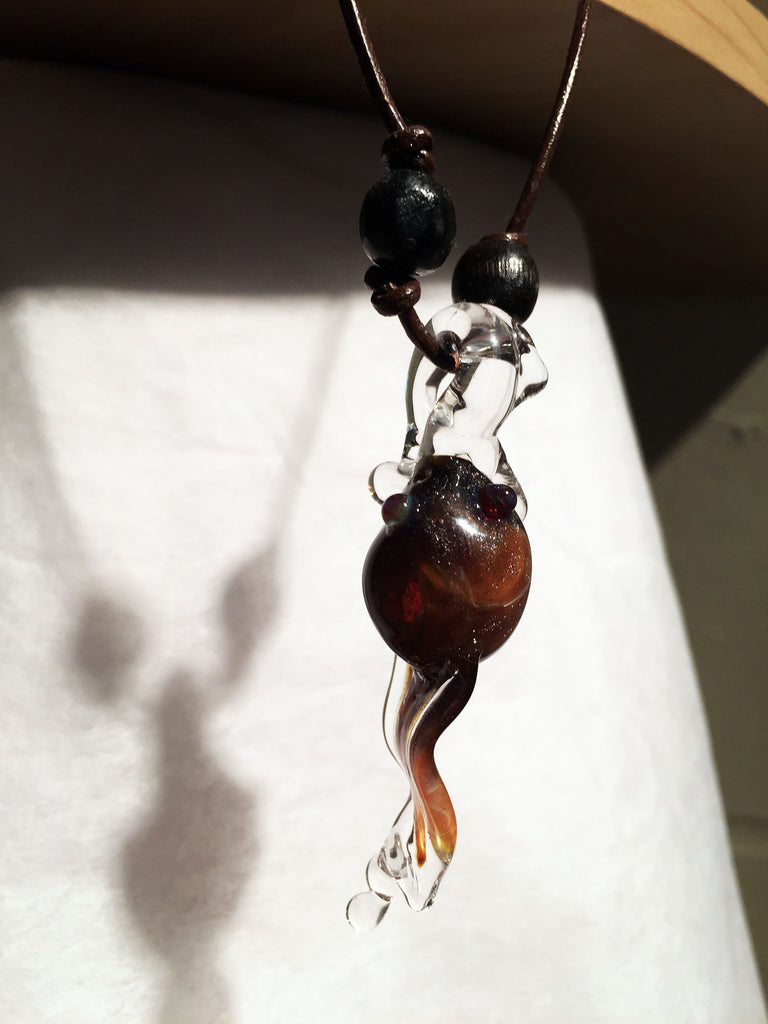 Treena Miles - Tadpole Blown Glass Pendant