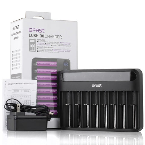 Efest - LUSH Q8 8 Bay Intelligent Battery Charger