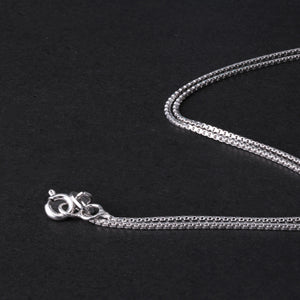 Sterling Silver Classic Design Box Necklace Chain - Tafani's