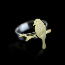 Load image into Gallery viewer, Sterling Silver Bird Ring - Handmade - Tafani's