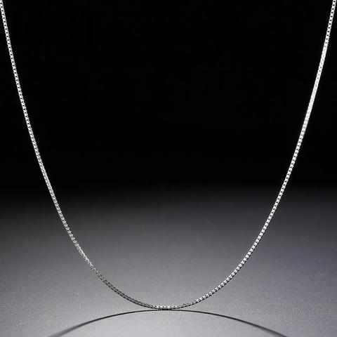 1 mm Box Chain 16 Inch / 18 Inch - Sterling Silver - Tafani's