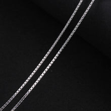 Load image into Gallery viewer, Sterling Silver Classic Design Box Necklace Chain - Tafani's