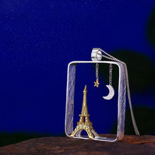 "Load image into Gallery viewer, Sterling Silver ""Paris in Night"" Pendant - Handmade - Tafani's"