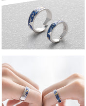 Load image into Gallery viewer, The Starry Night Rings, Earrings, Bracelet, Necklace Set - Sterling Silver - Tafani's