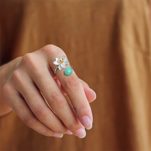 rings pearl blue cut chalcedony topaz ring and silver
