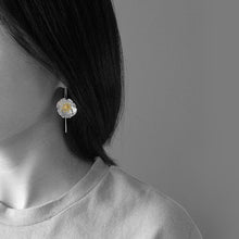 Load image into Gallery viewer, Sterling Silver Poppy Flower Drop Earrings - Handmade - Tafani's