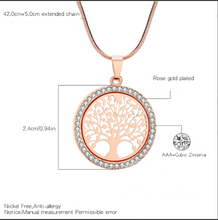 Load image into Gallery viewer, Round Tree of Life Necklace - Tafani's