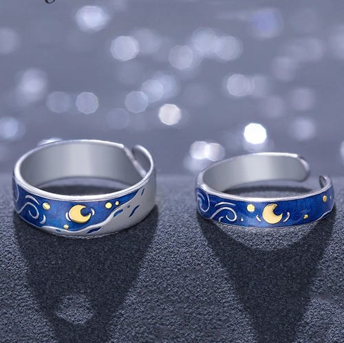The Starry Night Ring - Sterling Silver - Tafani's