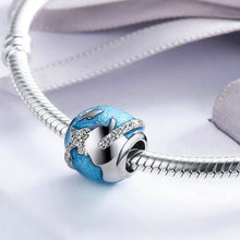 Load image into Gallery viewer, Sterling Silver Travel Bead - Zircons - Tafani's