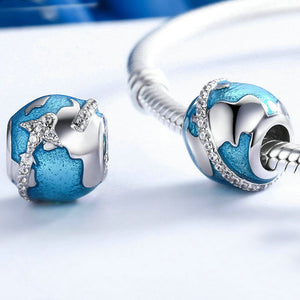 Sterling Silver Travel Bead - Zircons - Tafani's