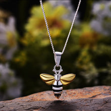 Load image into Gallery viewer, Sterling Silver Honeybee Pendant - Tafani's