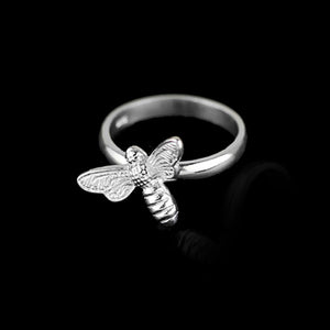 Sterling Silver Honeybee Ring - Tafani's