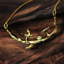 Load image into Gallery viewer, Sterling Silver Birds on Branch Necklace - Handmade - Tafani's