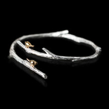 Load image into Gallery viewer, Sterling Silver Birds on Branch Bracelet - Handmade - Tafani's