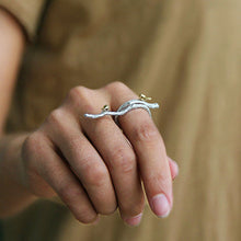 Load image into Gallery viewer, Handmade Sterling Silver Birds on Branch Ring - Tafani's