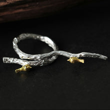 Load image into Gallery viewer, Sterling Silver Bird on Branch Ring & Pendant Set - Handmade - Tafani's