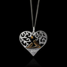 Load image into Gallery viewer, Sterling Silver Forever Lovers Birds Heart Pendant - Tafani's