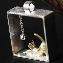 Load image into Gallery viewer, Sterling Silver Cat Pendant - Handmade - Tafani's