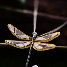 Load image into Gallery viewer, Sterling Silver Dragonfly Pendant - Handmade - Tafani's