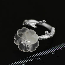 Load image into Gallery viewer, Handmade Sterling Silver Flower Ring - Natural Quartz - Tafani's