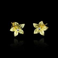 Load image into Gallery viewer, Handmade Sterling Silver Flower Stud Earrings - Tafani's
