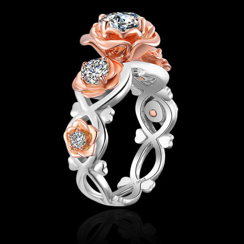 Sterling Silver Flower Ring - Topaz - Tafani's