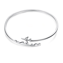 Load image into Gallery viewer, Airplane Bracelet - Sterling Silver - Tafani's