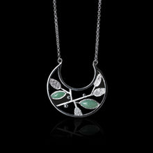 Load image into Gallery viewer, Handmade Sterling Silver Plant Necklace - Natural Aventurine - Tafani's