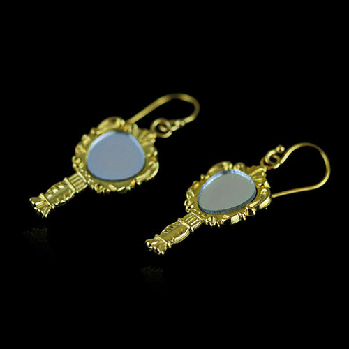 Sterling Silver Mirrors Drop Earrings - Handmade - Tafani's