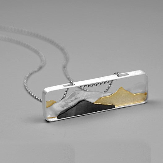 Handmade Mountains Pendant - Sterling Silver - Tafani's
