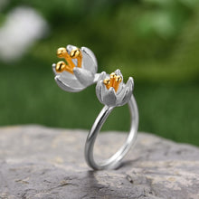 Load image into Gallery viewer, Handmade Flower Ring - Sterling Silver - Tafani's