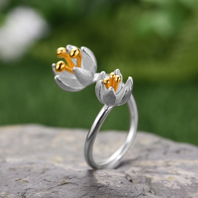Handmade Flower Ring - Sterling Silver - Tafani's