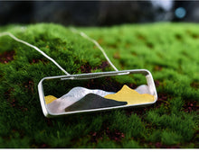 Load image into Gallery viewer, Handmade Mountains Pendant - Sterling Silver - Tafani's