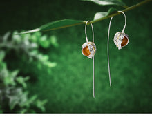 Load image into Gallery viewer, Handmade Sterling Silver Physalis Fruits Drop Earrings - Topaz - Tafani's