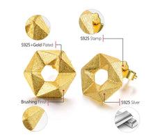 Load image into Gallery viewer, Handmade Geometrical Stud Earrings - Sterling Silver - Tafani's
