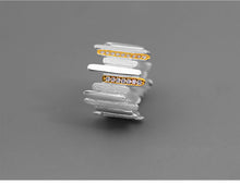 Load image into Gallery viewer, Handmade Sterling Silver Ring - Zircons - Tafani's