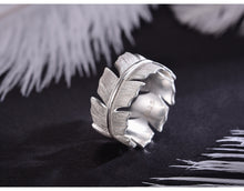 Load image into Gallery viewer, Sterling Silver Feather Ring - Handmade - Tafani's