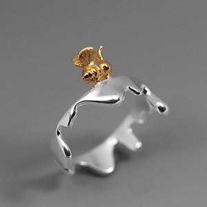 Sterling Silver Honeybee Ring - Handmade - Tafani's