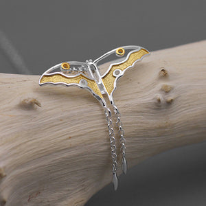 Handmade Butterfly Pendant - Sterling Silver